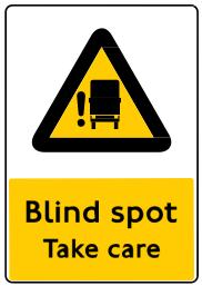 DVS Blind Spot Signage